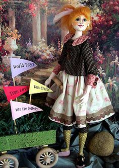 Cloth Doll Patterns and Face Stamps by Barbara Willis