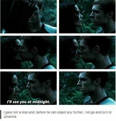 This scene really made my heart sink... knowing its the last time we saw Peeta like he was...