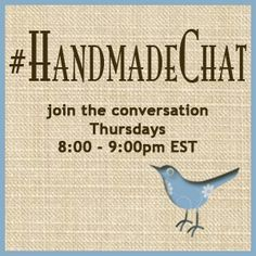 #Handmadechat: October 2012 LineUp, blog post by Donna Maria