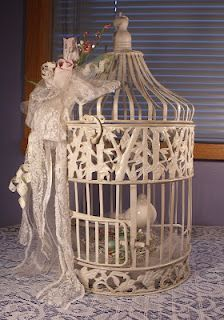 Moore Art From The Heart: Vintage Shabby Chic Birdcage