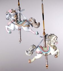 Carnaval Horse Ornament - 2 Assorted.