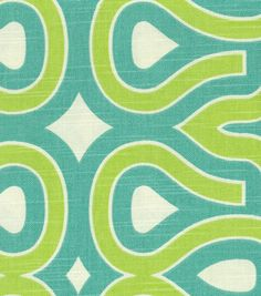 Home Decor Print Fabric-HGTV HOME Turtle Shell Turquoise, , hi-res fabric for barstools and desk chair