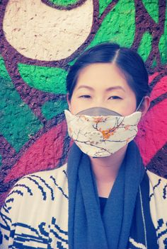 u-mask voyage lotus, the best anti pollution mask in the world. Check the other 20 designs on www.u-maskstore.com