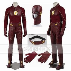 Details About The Flash Season 5 Barry Allen Cosplay Superhero Costume  Custom Made Halloween