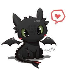 Toothless Chibi - How To Train Your Dragon by Hikariuta.deviantart.com on @deviantART