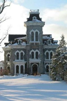 abandoned Second Empire Victorian. Ever wonder how such beautiful homes can ever become abandoned? Victorian Architecture, Beautiful Architecture, Beautiful Buildings, Beautiful Homes, House Architecture, Classical Architecture, Beautiful Places, Old Buildings, Abandoned Buildings