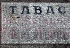 tobacco ghost sign in france