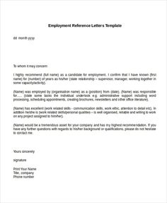 letter of recommendation for job Employment Reference Letter Templates - Free Sample, Example . Reference Letter For Student, Personal Reference Letter, Professional Reference Letter, Letter Template Word, Letter Templates Free, Reference Letter Template, Writing Template, Employee Recommendation Letter, Vestidos