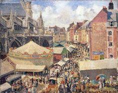Pissarro, Camille - Fair in Dieppe. Sunny morning