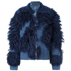 3.1 Phillip Lim faux fur bouclé jacket (85.510 RUB) ❤ liked on Polyvore featuring outerwear, jackets, blue, blue jackets, fake fur jacket, blue boucle jacket, 3.1 phillip lim jacket and long sleeve jacket