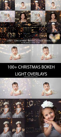 100+ Christmas Gold Bokeh Overlays + Free Gift - Kimla Designs