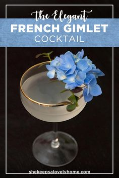 Serve this divine cocktail with lime, St. Germain and gin at your next extra fancy cocktail party. #cocktails, #french, #gin, #1920s via @shekeepsalovelyhome