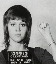 In 1970, Jane Fonda was arrested for kicking a police officer who was arresting her for a large amount of pills she had in her possession.
