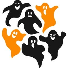 Silhouette Design Store - View Design #32274: assorted halloween ghost shape