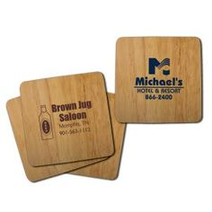 Help protect the earth and your table by using our promotional Table Saver Bamboo Coasters. Made of actual bamboo, they are a stylish and eco-friendly alternative to rubber coasters.