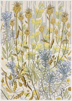 Angie Lewin - Stony Track - screen print