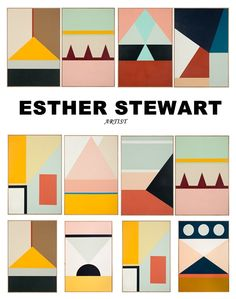 Melbourne-based artist named Esther Stewart. Palette Pastel, Modern Art, Contemporary Art, Diy Décoration, Grafik Design, Geometric Art, Quilting Designs, Art Inspo, Pattern Design