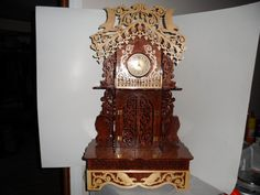 Fretwork American Eagle Mantle Clock by dreamwvr81 on Etsy, $350.00