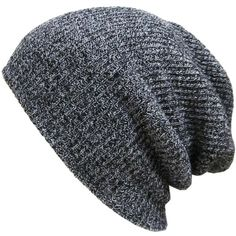 Amazon.com: KBETHOS W-10 Heather Slouchy Beanie Skull Cap Hat - BLACK:... (€8,92) ❤ liked on Polyvore featuring accessories, hats, skull beanie, slouch hat, cap, caps hats and skull cap beanie