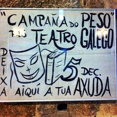Cartel da campaña do peso. Teato Galego anos 70