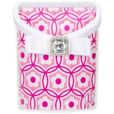 """Pink Flower Magnetic Locker Accessory Bin 4.25"""" x 3.12"""" ❤ liked on Polyvore featuring home, home decor, school and pink home decor"""