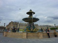 Famous fountains in the Place de la Concorde, Paris