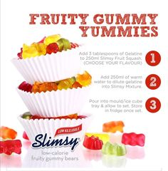 Fruit Squash, Gummy Bears, Delicious Desserts, Keto Recipes, Food And Drink, Tray, Sweets, Snacks, Cooking
