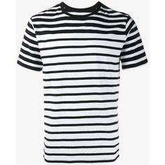 RAG & BONE Stripe Cotton T-Shirt ($92) ❤ liked on Polyvore featuring men's fashion, men's clothing, men's shirts, men's t-shirts, mens tailored shirts, mens cotton shirts, mens cotton t shirts, mens sports t shirts and mens short sleeve sport shirts