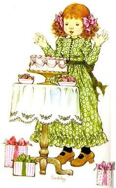 sarah kay - Page 2 Sarah Key, Holly Hobbie, Colorful Pictures, Cute Pictures, Mary May, Happy Birthday Greetings, Australian Artists, Illustrations, Vintage Cards