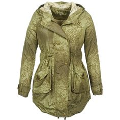 Desigual CHANI Kaki Military Jacket, Jackets, Fashion, Down Jackets, Moda, Field Jacket, Military Field Jacket, Fashion Styles, Military Jackets