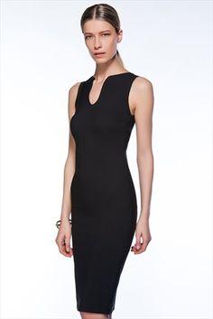 V Yaka Siyah Elbise MLWSS156044 Milla by trendyol | Trendyol