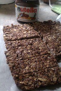 Nutella Granola Bars, 4 ingredients!!