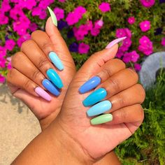 Hottest Trends for Acrylic Nail Shapes Summer Acrylic Nails, Cute Acrylic Nails, Glue On Nails, Summer Nails, Cute Nails, My Nails, Gel Nails Shape, Acrylic Nail Shapes, Elegant Nail Designs