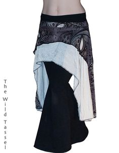 Tribal Fusion Belly Dance Hipskirt OverSkirt by TheWildTassel, $56.00
