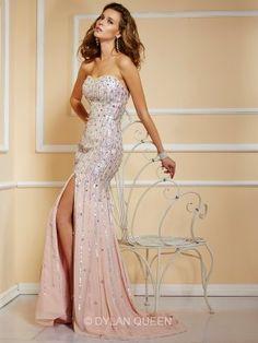 Strapless Sleeveless A-Line/Princess Floor-Length Beading Dress - Long Prom Dresses - Prom Dresses