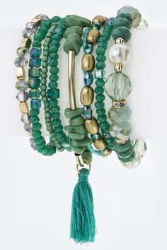 Tassel & mixed beads bracelets