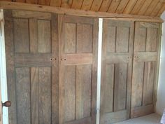 Exterior of built in/ fitted wardrobes made to fit in with the period/style of the property.