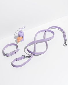 Set yourself up right with our popular on-the-go essentials. The Walk Kit comes with our signature dog Collar paired with the color-matched Leash and Poop Bag Carrier. Also available as a Harness Walk Kit. Collar Walk Kit, Lilac / S / Standard Dog Collars & Leashes, Dog Leash, Large Dogs, Small Dogs, Tiny Dog, Giant Dogs, Lilac, Purple, Medium Dogs