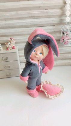 Кукла- малышка. Зая – купить или заказать в интернет-магазине на Ярмарке Мастеров | Текстильная кукла- малышка выполнена из…