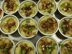 """ALACARTE CATERING created a fabulous Wedding Shower on July 18th for 65. """"Perfect Pairs"""" was the theme and dishes included: Mac & Cheese, Shrimp & Grits, and Peaches & Cream! #atlanta #catering #alacartecatering #food #wedding #atlantawedding #atlantacatering #foodideas #cateringideas #weddingideas #entertaining #fingerfoods #catering #atlantavenues #entertainment #partyideas #fingerfoods #cateringdisplay"""