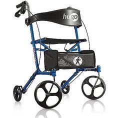 Hugo Sidekick Side-Folding Rollator Walker With Seat Blueberry