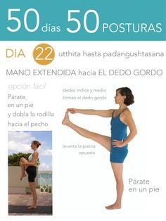 ૐ YOGA ૐ ૐ Utthita Hasta Padangushtasana ૐ 50 días 50 posturas. Día 22. Mano Extendida hacia el Dedo Gordo