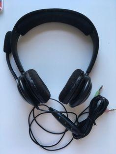 SENNHEISER HEADSETS MICROPHONE VOLUME CONTROL MUTE PC151 3.5 mm JACKS BLACK GRAY #Sennheiser