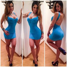Hot cute beautiful girls and women wearing tight dress and skirts. If you want me to re-blog your...