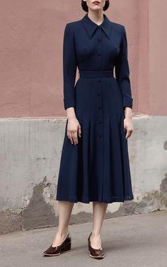 Ulyana Sergeenko, Ready-To-Wear, Париж Elegant Dresses, Vintage Dresses, Vintage Outfits, Vintage Fashion, Modest Fashion, Fashion Dresses, Business Dress, Ulyana Sergeenko, Look Fashion