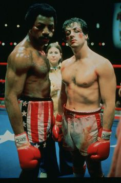Rocky Balboa and Apollo Creed...