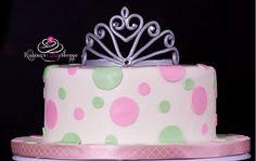 Princess cake with a handmade gum-paste tiara | rubinascakeshoppe.com