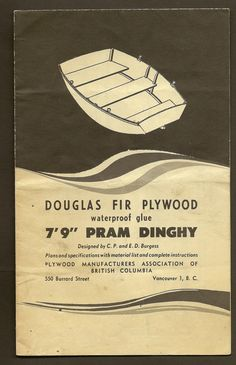 Free boat blueprints bing images vene pinterest boating vintage boat building plan pram dinghy 79 douglas fir plywood boat blueprint plywood manufacturers association of british columbia malvernweather Gallery
