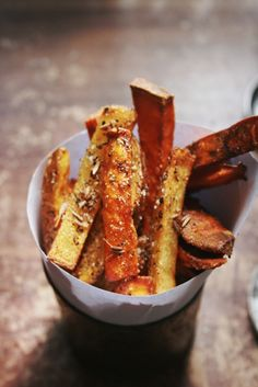Notions & Notations of a Novice Cook - Making Herbed Fries