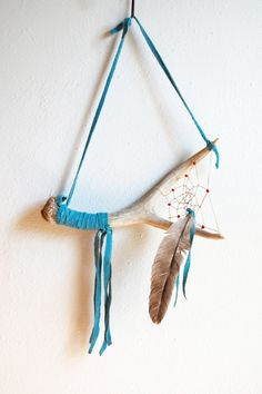 Vintage Deer Antler Dream Catcher by SongbyrdVintage on Etsy, $12.50